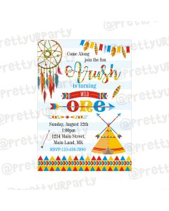 Wild One Theme Invitations