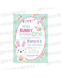 Some Bunny is One Theme Invitations
