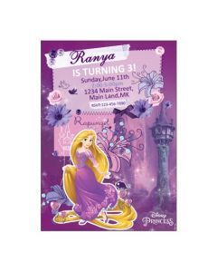 Tangled / Rapunzel Theme E-Invitations