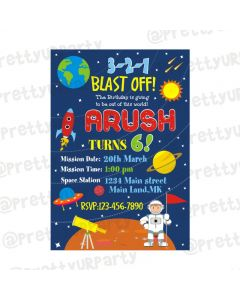 Space Theme E-Invitations
