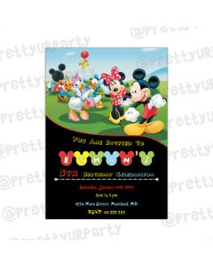 Mickey Mouse Clubhouse Inspired Invitations