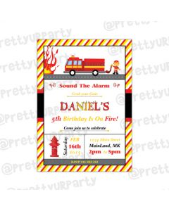 Fire Truck Invitations