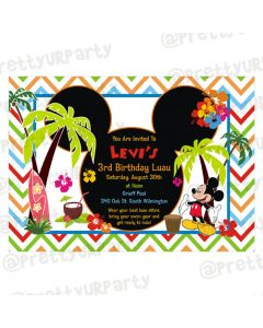 Mickey Mouse Luau Invitations