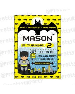 Batman Inspired Invitations