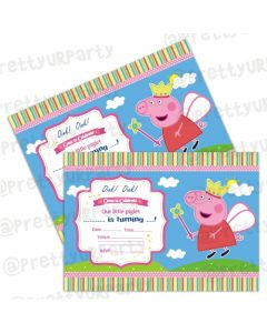 Peppa pig Inspired Invitations