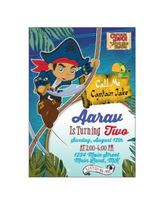 Captain Jake and the Neverland Invitations