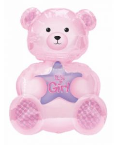 anagram superfoil its a girl teddy bear balloon