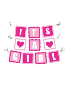 It's A Girl Baby Shower Bunting