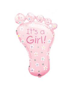 Its a Girl Baby Foot supershape Balloon