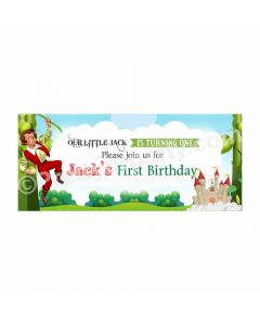 Personalized Jack & The Beanstalk Theme Banner 30in