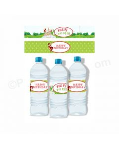Jack & The Beanstalk Theme Water Bottle Labels