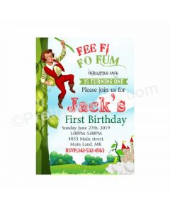 Jack & The Beanstalk Theme Invitations