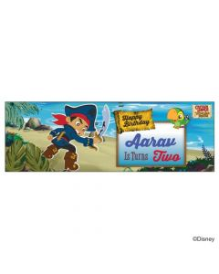 Personalized Captain Jake and the Neverland Birthday Banner 36in