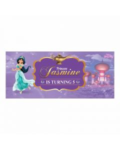 Personalized Jasmine and Aladdin Theme Banner 30in