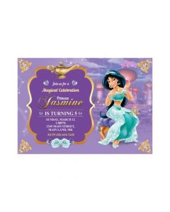 Jasmine and Aladdin Theme Invitations