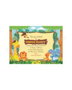 Jungle Theme E-Invitations