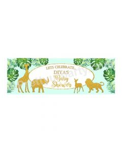 Personalized Jungle Baby Shower Banner 36in