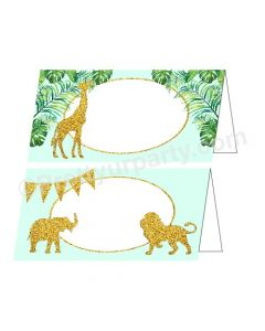 Jungle Baby Shower Food Labels / Buffet Table Cards