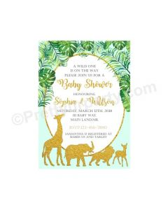 Jungle Baby Shower E-Invitations