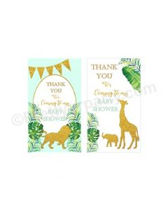 Jungle Baby Shower Thank you Tags