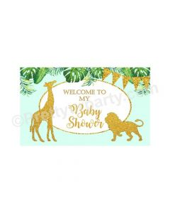 Jungle Baby Shower Entrance Banner / Door Sign
