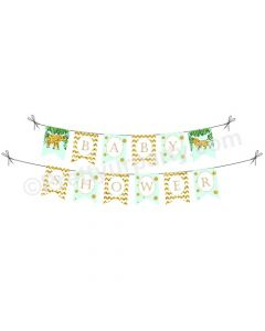 Jungle Baby Shower Bunting