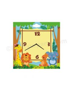 Personalised Jungle Clock - Square