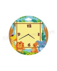 Personalised Jungle Theme Clock - Round1