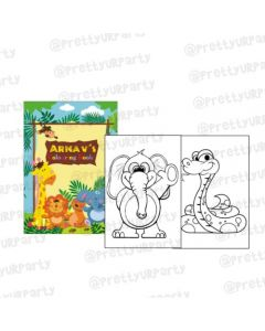Jungle Theme Colouring Book