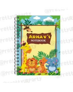 Jungle Note Books with coloured Pages