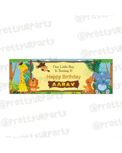 Personalized Jungle Safari banner