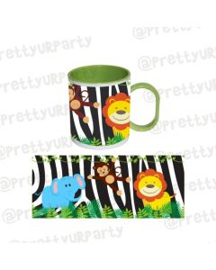 Personalised Inside Colour Jungle Mug