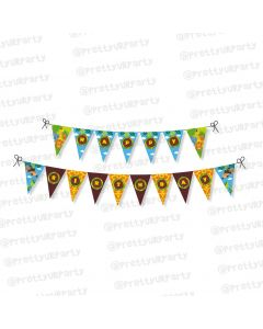 jungle theme bunting