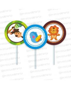 jungle theme cupcake / food toppers