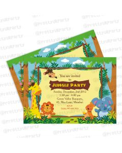jungle theme invitations