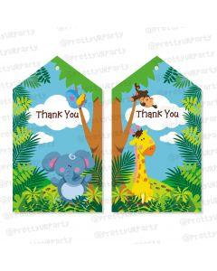 jungle theme thankyou cards