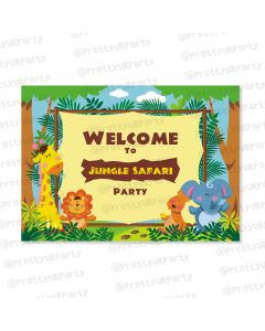 jungle theme entrance banner / door sign