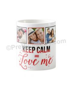 Happy Valentines Keep Calm Photo Mug