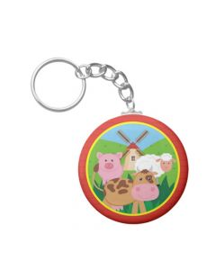 farm friends keychains