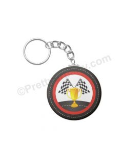 Personalised Race Car Keychain
