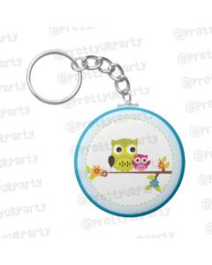 Personalized Owl Keychain