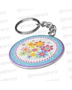 Personalised Flowers Keychain