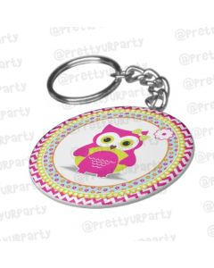 Personalised GirlyOwl Keychain