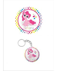 Personalised My Little Pony Keychain