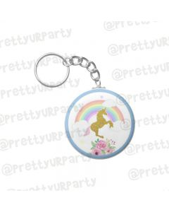 Personalised Unicorn Keychain
