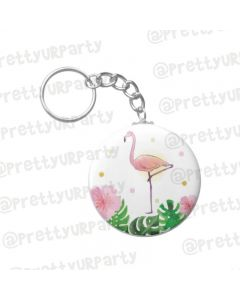 Personalised Flamingo Keychain