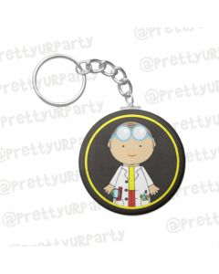 Personalised Mad Scientist Keychain