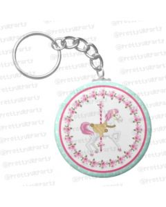 Personalized Carousel Keychain