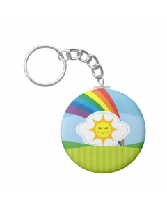 Personalised Rainbow Keychain
