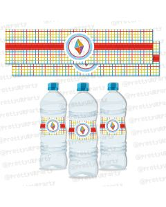 kites  water bottle labels